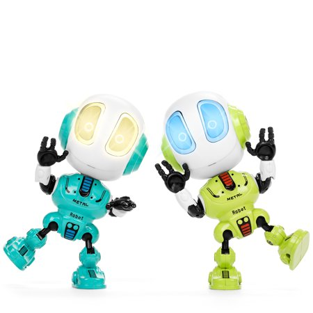 Robots For 4 Year Olds (Best Choice Products Set of 2 Samesies Mini Talking Toy Robots w/ Interactive Voice Changer & Recorder, Posable Limbs, LED)