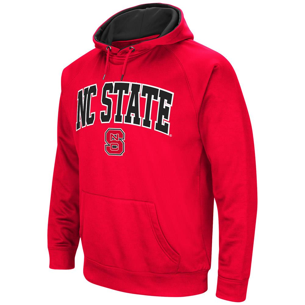 Mens NC State Wolfpack Fleece Pull-over Hoodie by Colosseum