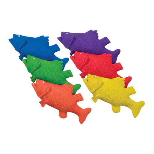 Color My Class Rubber Critters- Bass Set of 6