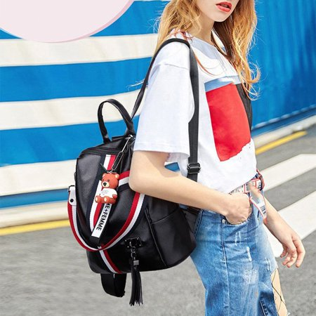 Korean Fashion Casual Dual-Use Bag Small Fresh Soft Leather Women'S Backpack - image 8 de 10