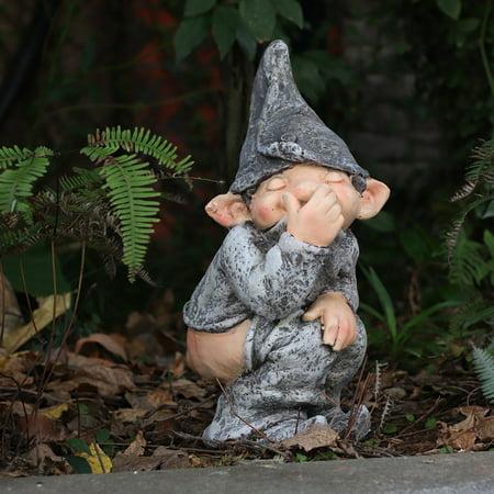 SPRING PARK Micro Landscape Decoration, Display Mold Simulation Funny Gnome Miniature Dwarf Figurine Statue Gardening Decor for Garden