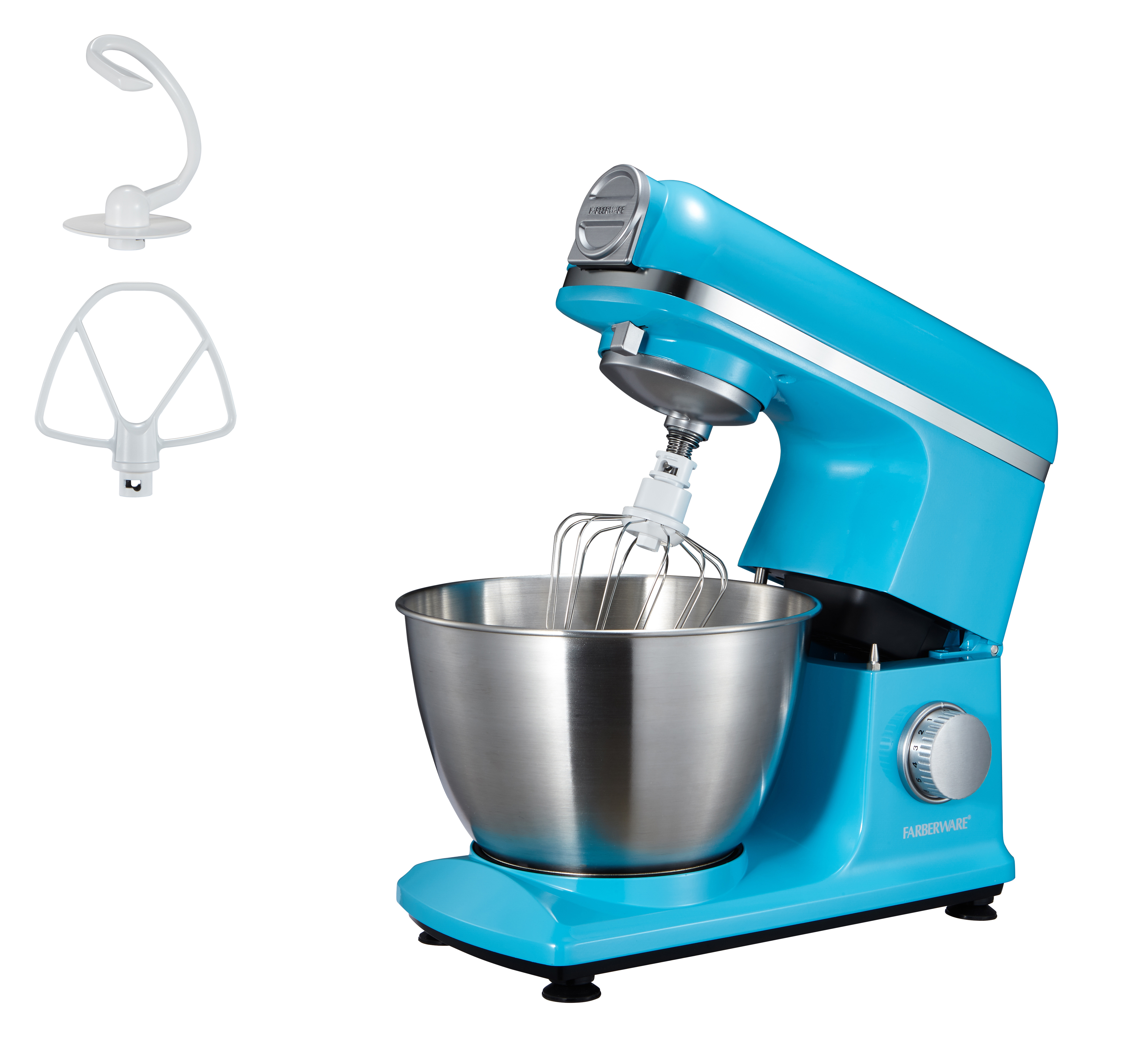 Stand Mixer Farberware 4.7 Quart Color Teal Stainless Steel Bowl ...