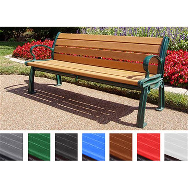 Jayhawk PB 5GREGFHER Heritage Bench with Green Frame, Green, 5 ft.