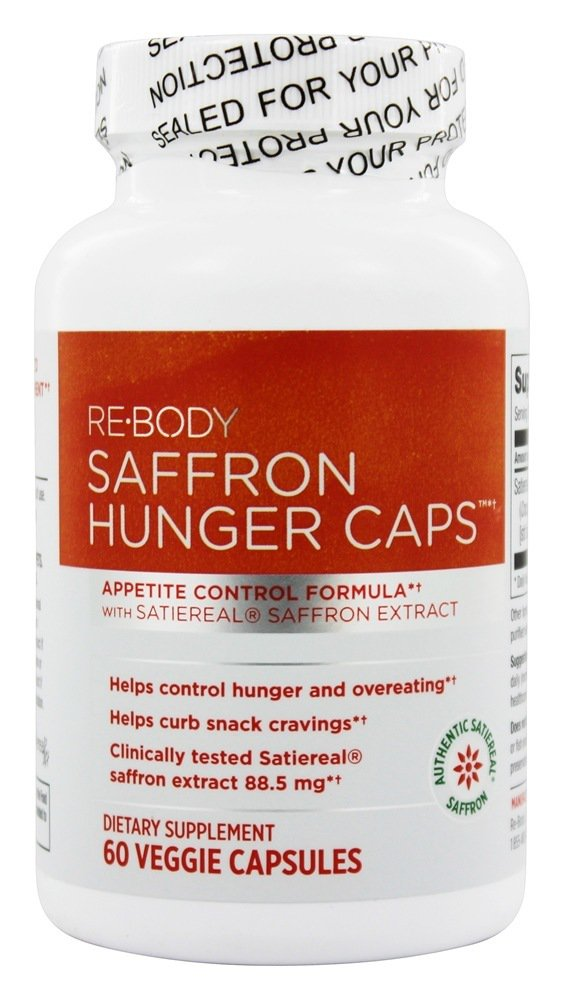 ReBody Hunger Caps Appetite Control Formula with Satiereal Saffron Extract 60 Vegetarian... by Re-Body