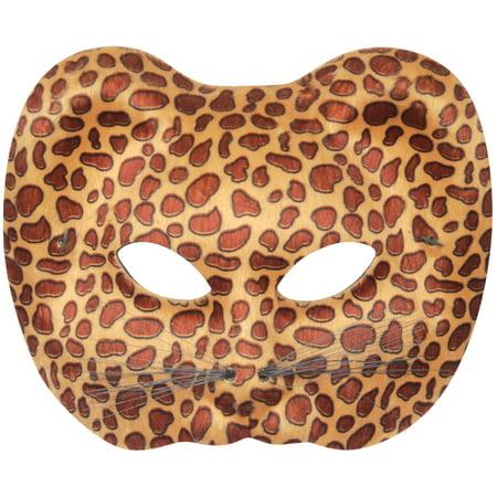 Leopard Halloween Face (Loftus Leopard Halloween Costume Face Mask, Brown Tan, One)