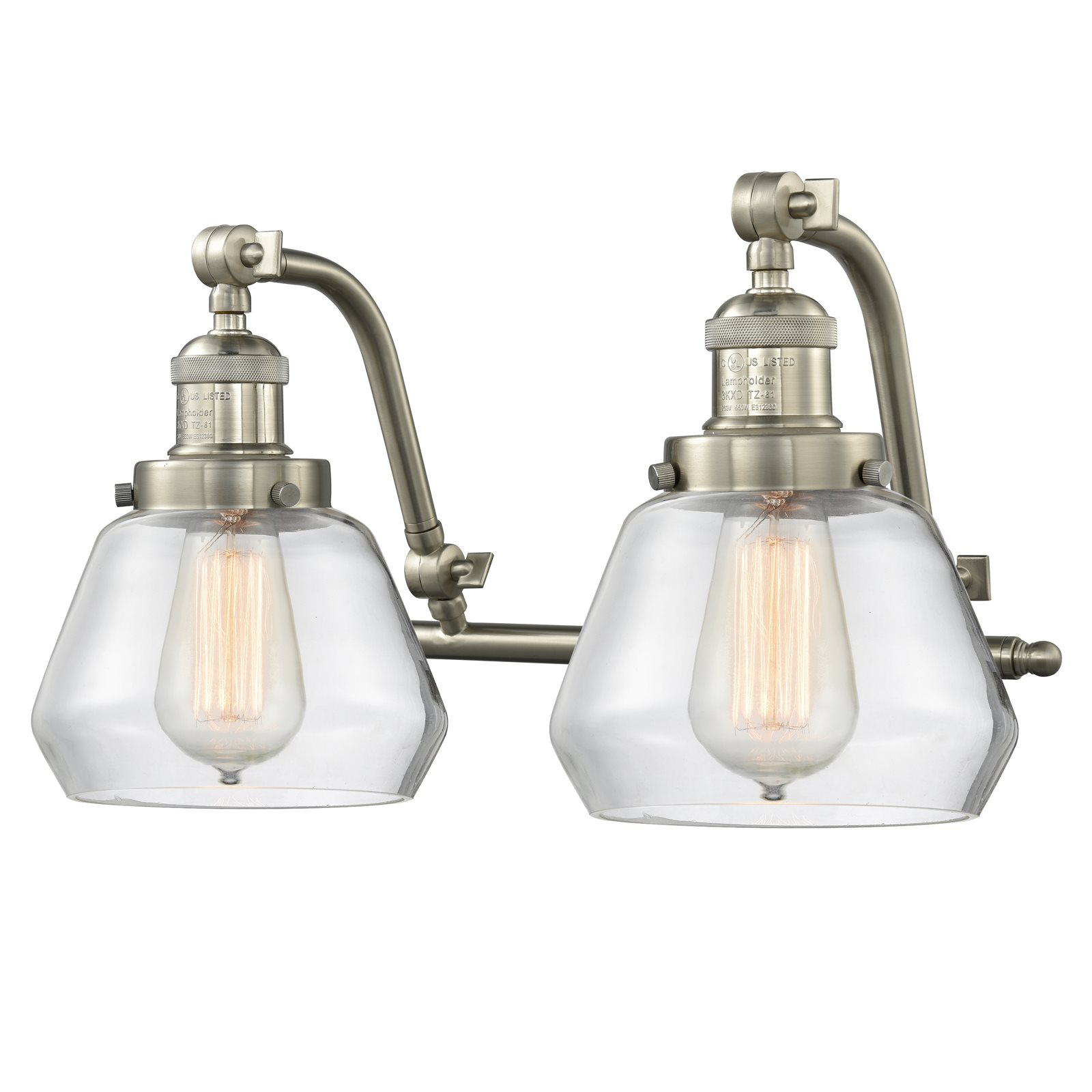 """Innovations 2-LT LED Fulton 18"""" Bathroom Fixture Brushed Satin Nickel 515-2W-SN-G172-LED by"""