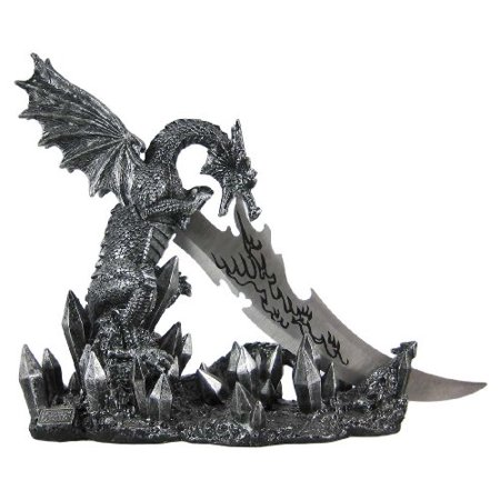 (Wicked Fire Dragon Fantasy Knife & Holder Dagger)
