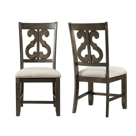Picket House Furnishings Stanford Wooden Swirl Back Side Chair Set