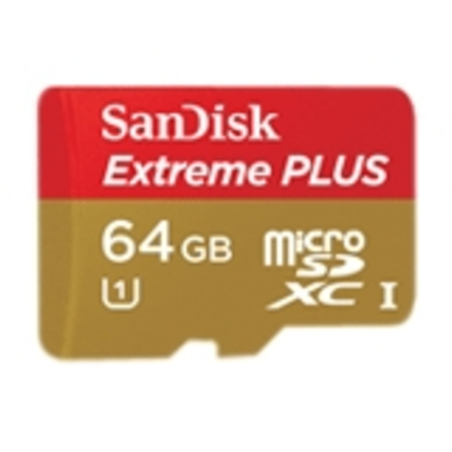 SanDisk Extreme PLUS 64 GB microSDXC - Class 10/UHS-I - 80 MB/s (Refurbished)