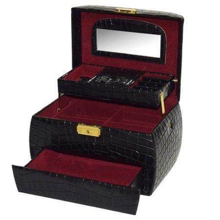 Ikee design leatherette jewelry box with key lock for Jewelry box with key