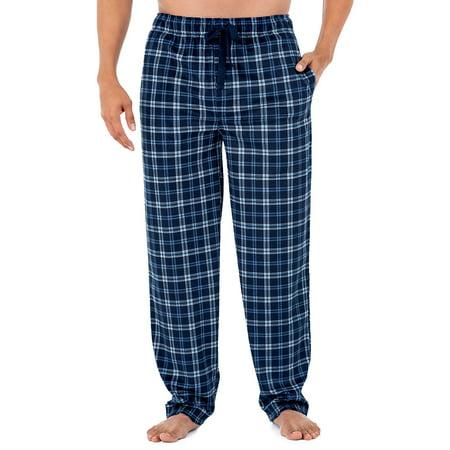 Izod Men's Micro Fleece Pajama Pant in White/Blue, Size Large