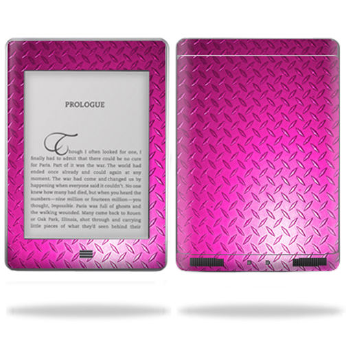 """Mightyskins Protective Vinyl Skin Decal Cover for Amazon Kindle Touch Wi-Fi, 6"""" inch E Ink Display Tablet wrap sticker skins Pink Dia Plate"""