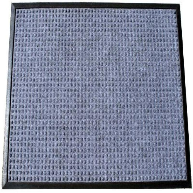 "Durable Corporation Polyester Stop-N-Dry Polyester Carpet Mat, for Indoors & Vestibules, 36"" Width x 48"" Length x 1/2"" Thickness, Gray"
