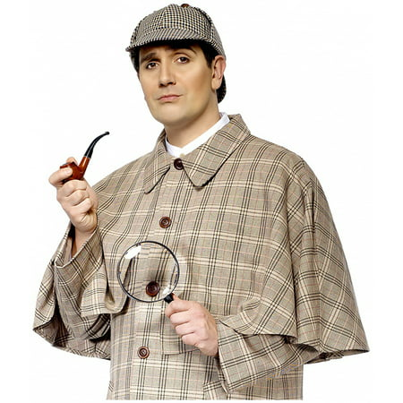 Halloween Costumes For Glasses Wearers (Sherlock Holmes Costume Kit With Pipe And Magnifying)