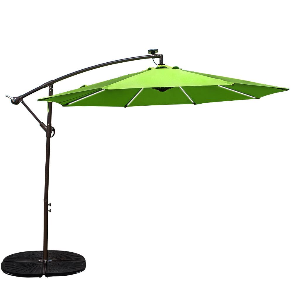 Sundale Outdoor 10 Feet Solar Powered LED Stripe Lighted Aluminum Offset Patio Umbrella... by Sundale Outdoor