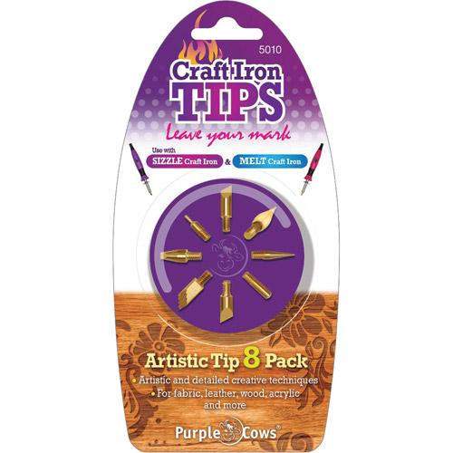 Purple Cows Artistic Craft Iron Tips, 8pk
