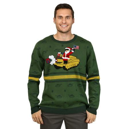 Men's Santa on Tank Christmas Sweater ()