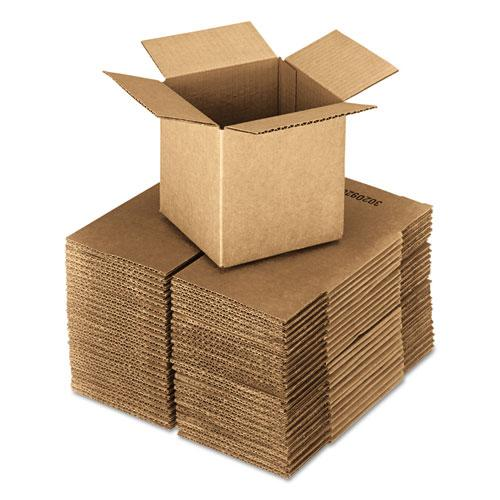 United Facility Supply Brown Corrugated - Cubed Fixed-Depth Shipping Boxes, 4l x 4w x 4h, 25/Bundle 684184