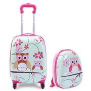 Best Suitcases - Costway 2 Piece 12'' 16'' Kids Carry-on Luggage Review