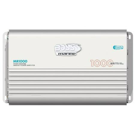 BOSS AUDIO MR1000 Marine Weather Proof 1000-Watt Full Range, Class A/B 2-8 Ohm Stable 4 Channel Amplifier with Remote Su (Amplifier Marine Jl Audio)