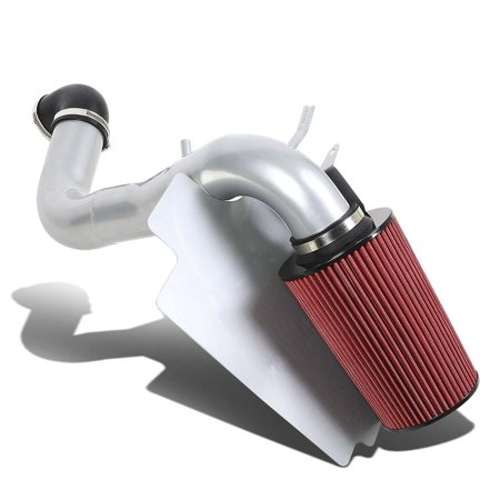 For 1998 to 2003 S10 / Sonoma / Hombre 2.2 4Cyl Silver Coated Aluminum Air Intake Pipe+Red Filter System 99 00 01 02 Air Intake System Polish