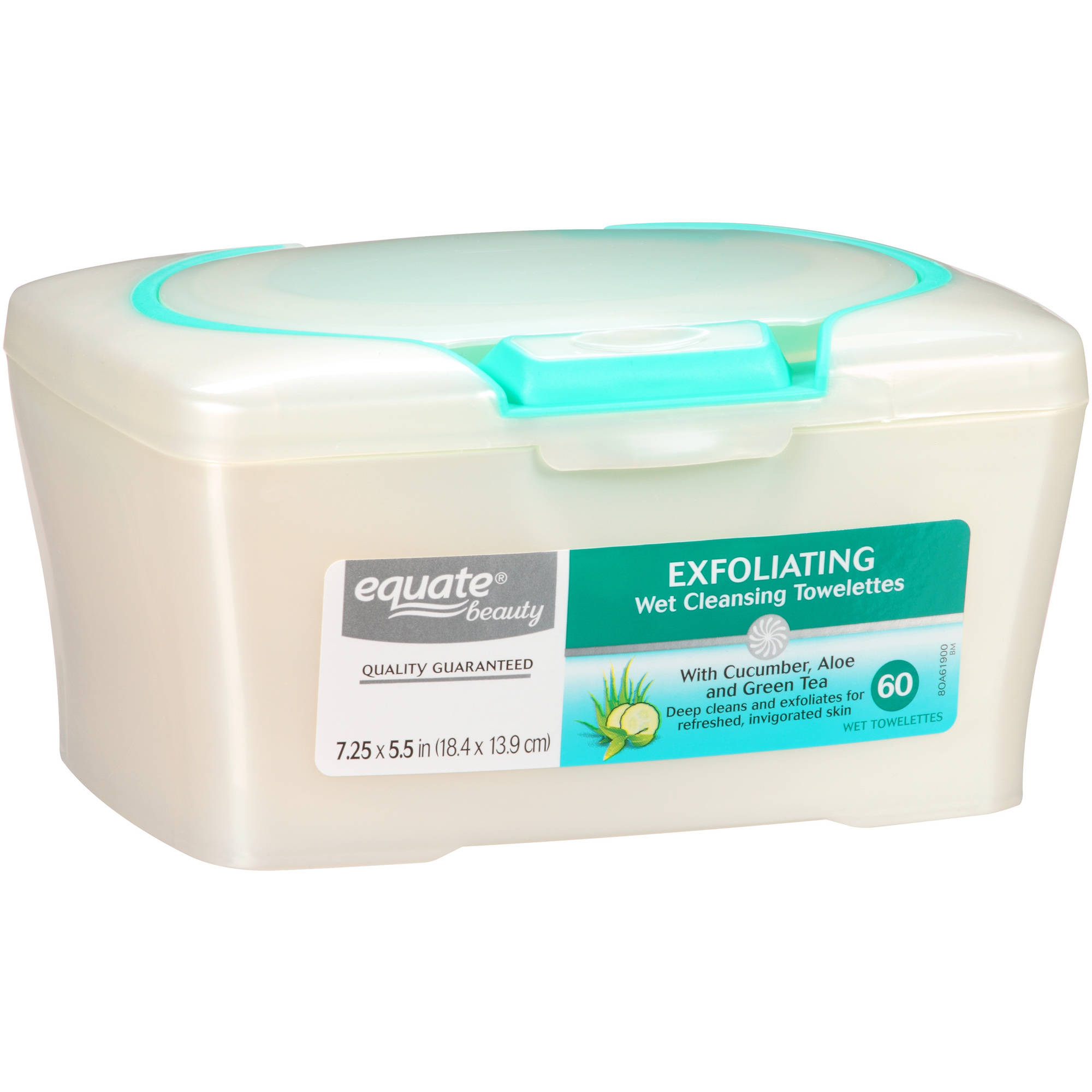 Equate Beauty Exfoliating Wet Cleansing Towelettes, 60 Ct