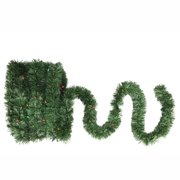 18' Pre-Lit Battery Operated Twinkling Green Pine Artificial Christmas Garland - Multi LED Lights