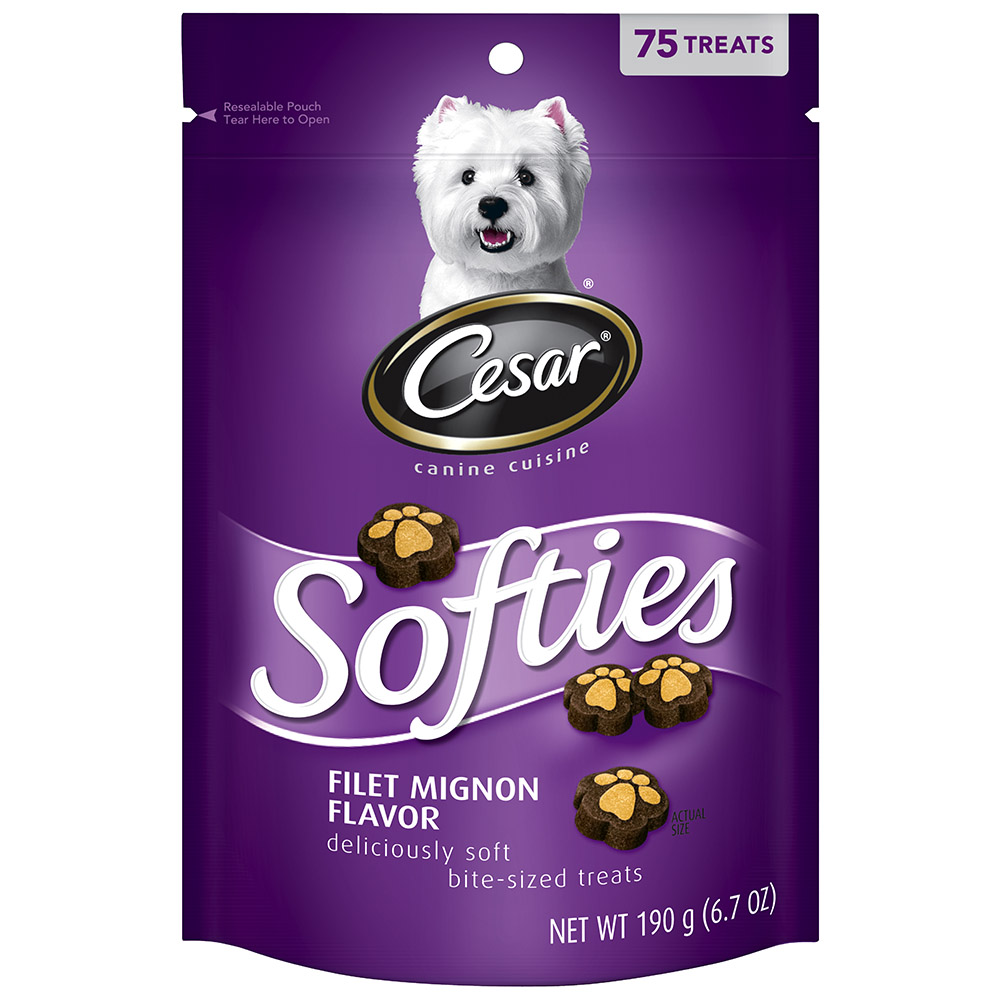 CESAR SOFTIES Filet Mignon Flavor Dog Treats - 6.7 oz. 75 Treats