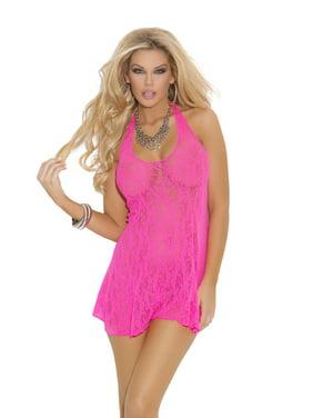 317054be11e Product Image Womens Pink Lace Halter Mini Dress. Elegant Moments