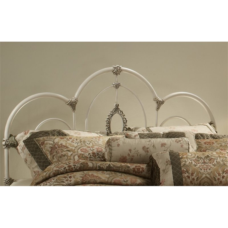 Hillsdale Victoria Twin Spindle Headboard in Antique White