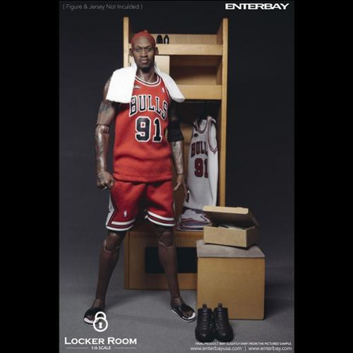 Enterbay 1/6 NBA Basketball Locker Room Locker for 12 inch Figures Scale Statue (Christmas Gift Idea)