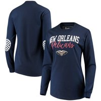 New Orleans Pelicans Women's Elbow Patch Long Sleeve T-Shirt - Navy