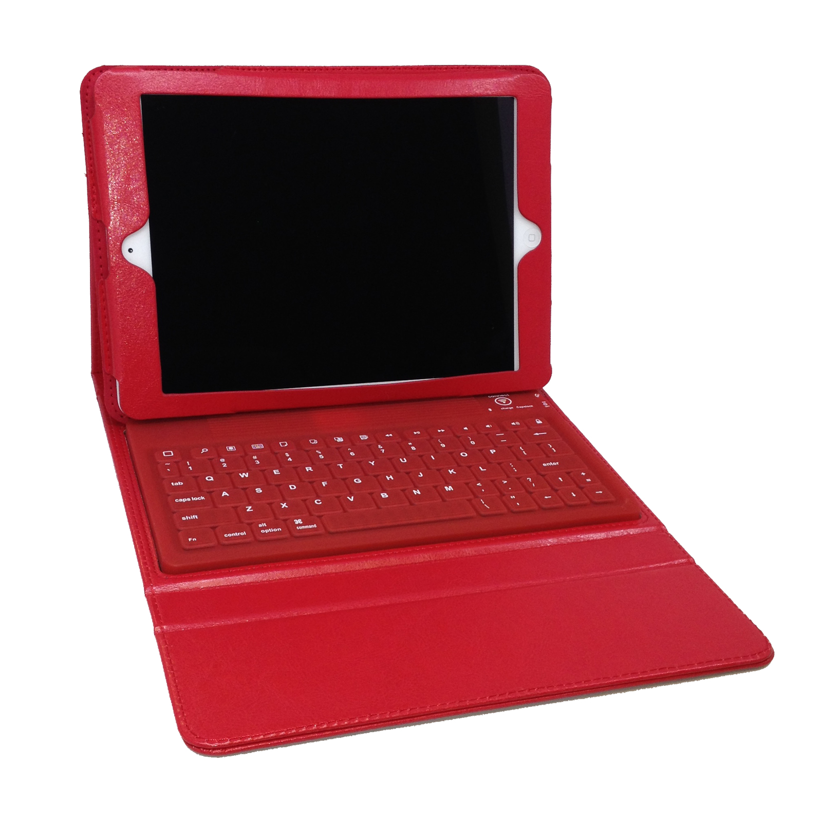 Bluetooth Keyboard Folio for iPad Air- Red