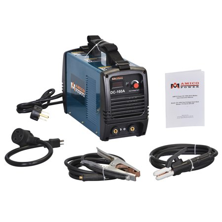 Amico Power S160AM, 160 Amp Stick ARC DC Welder 110/230V Dual Voltage Welding Soldering Machine ()