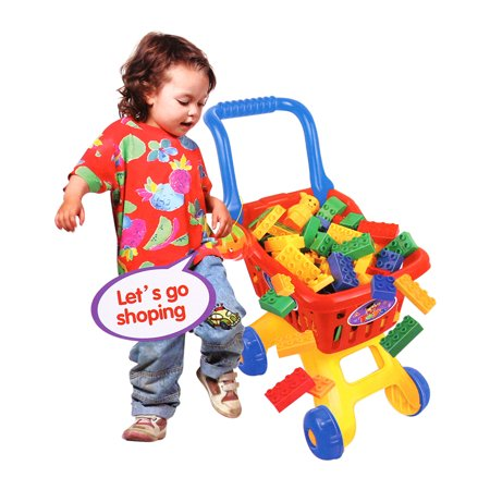 KARMAS PRODUCT Shopping Cart for Kids Building Blocks Toy KARMAS PRODUCT Shopping Cart for Kids Building Blocks Toy; 100% Brand New And High Quality; Age range:3+ ;Quite Popular Toy For Kids ;Specification Material: Plastic ;Packing Size:42.5*32*9.5cm ;Package:Gift Box ;Function: Your very own mini shopping cart! Inculded 39 pcs building blocks.Shopping cart resembles real shopping carts. This complete shopping cart and grocery food play set is fun and educational for your kids. For ages 3+.