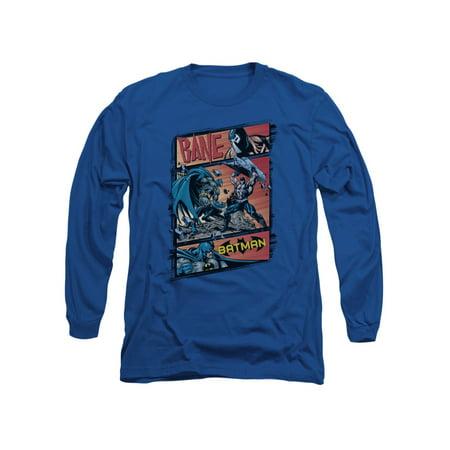 Batman DC Comics Bane Epic Battle Adult Long Sleeve T-Shirt Tee (Bane 90s Batman)