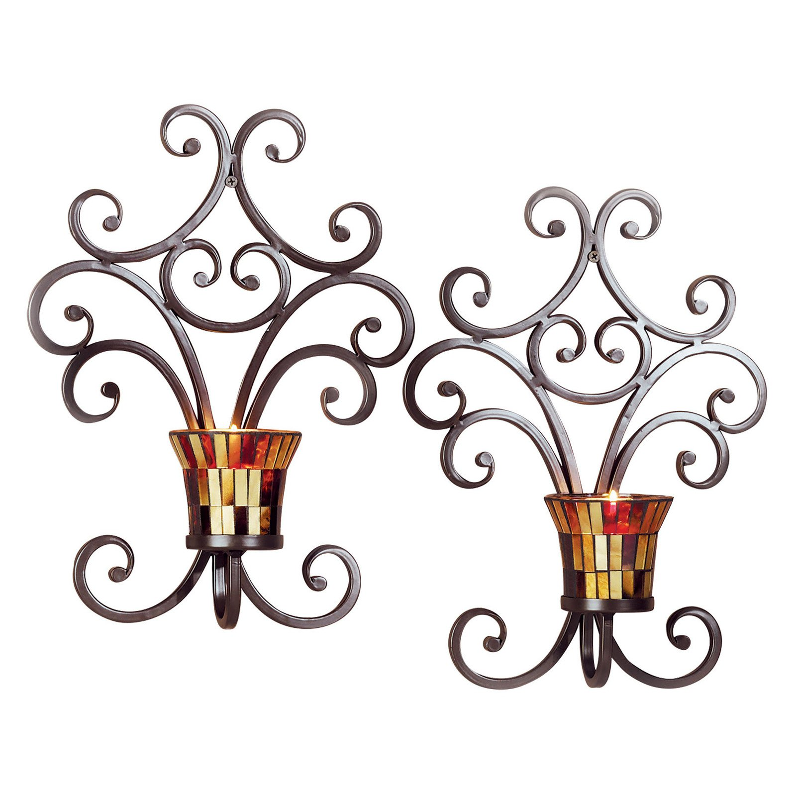 ELK Lighting Truffle Wall Sconce Candle Holder Set of 2 by ELK