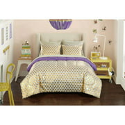 Heritage Club Gold Hearts Bed in a Bag Bedding Set