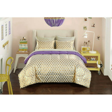 Heritage Club gold hearts bed in a bag bedding set ()