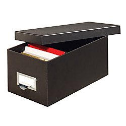 Globe-Weis® 90% Recycled Index Card Storage Case, 5