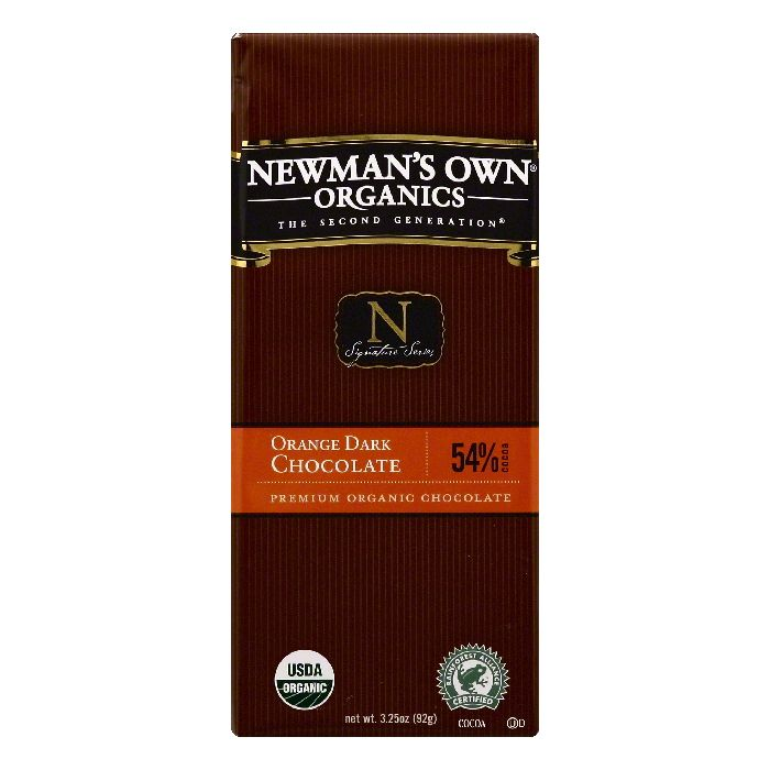 Newmans Own Organics 54% Cocoa Orange Dark Chocolate, 3.25 OZ (Pack of 12)
