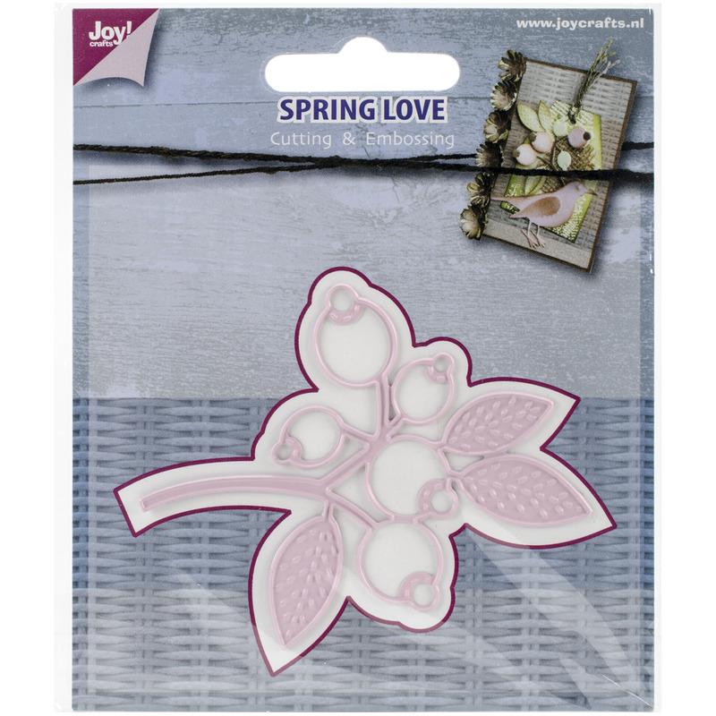 "Joy! Crafts Cut & Emboss Die -Spring Love Berry Branch, 3""X2.5"""