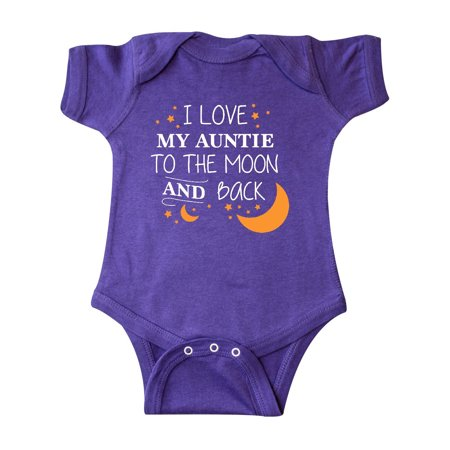 0f23b94bc Inktastic - I Love My Auntie To The Moon and Back Infant Creeper -  Walmart.com