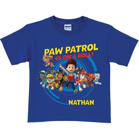 Personalized Paw Patrol On A Roll Royal Blue Toddler Boys