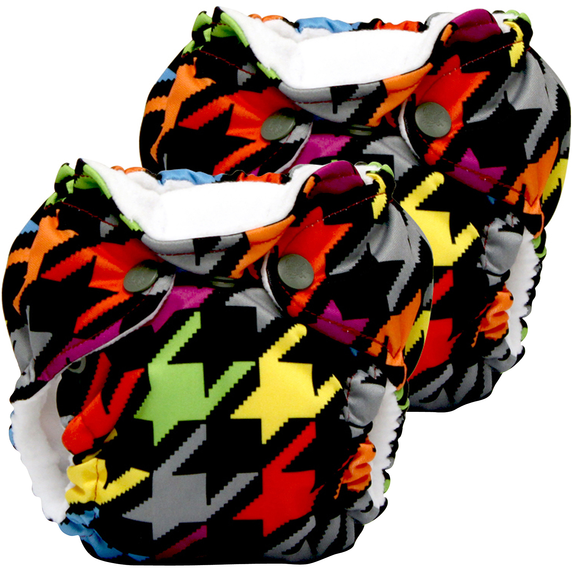 Kanga Care Lil Joey All in One Newborn Cloth Diaper, Invader, 2 count