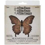 "Sizzix Bigz Die W/A2 Texture Fades Folder By Tim Holtz-Layered Butterfly 4.875""X4.125"""