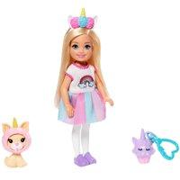 Barbie Club Chelsea Dress-Up Doll in Unicorn Costume, 6-Inch