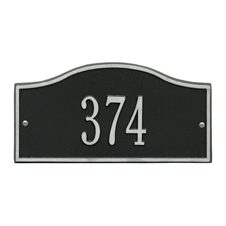 Personalized Whitehall Products™ Rolling Hills 1-Line Mini Wall Address Plaque in Black/Silver ()