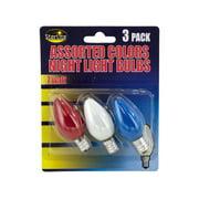 Bulk Buys Colored Night Light Bulbs, Case of 24