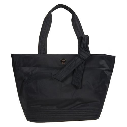 Kate Spade New York Flatiron Nylon Barbara Black Shoulder Bag Tote Gold Plated